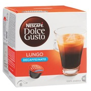 Box of 16 coffee capsules Nescafé Dolce Gusto Lungo decaffeinato