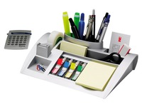 Plastic desk organizer Post-it grey.