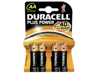 Batterie AA - LR6 Duracell Plus Power - Blisterpackung von 4 Batterien
