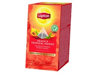 Box of 30 tea bags Lipton peach & tropical mango
