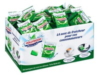 Chewing gum Hollywood green Fresh - box of 250 individual bags