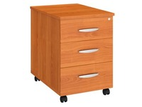 Mobile drawer cabinet wood 3 drawers cherry tree Bruneau Excellens