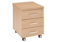 Mobile cabinet Shiney 3 drawers oak finish