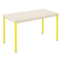 Multi-use eco table 120 x 60 cm beige