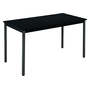 Classic rectangular multiform table black