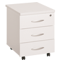 Mobile drawer cabinet Excellens wood 3 drawers